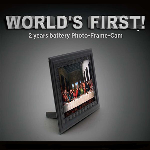 Photo frame with 2 year battery capacity
