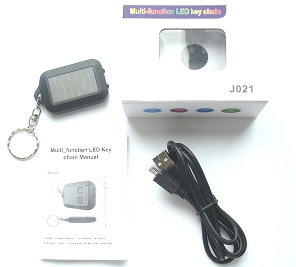 Voice Activated HD LED Keychain Camera